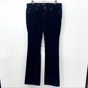 Ann Taylor LOFT Black Corduroy Modern Boot Pants 4